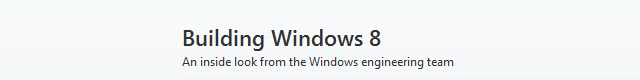 building windows 8 blog