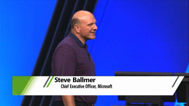 Steve Ballmer crary at BUILD