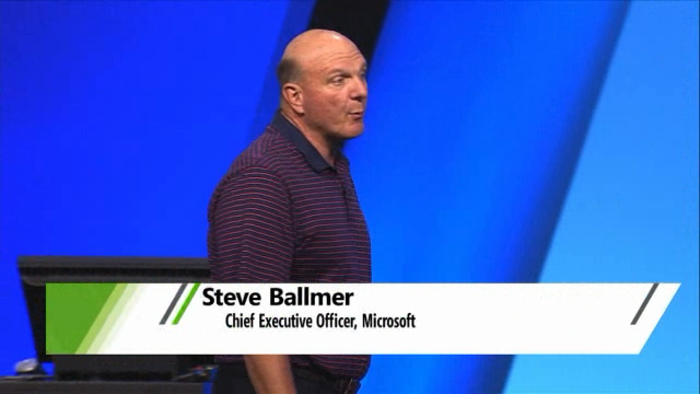Steve Ballmer surprised at BUILD