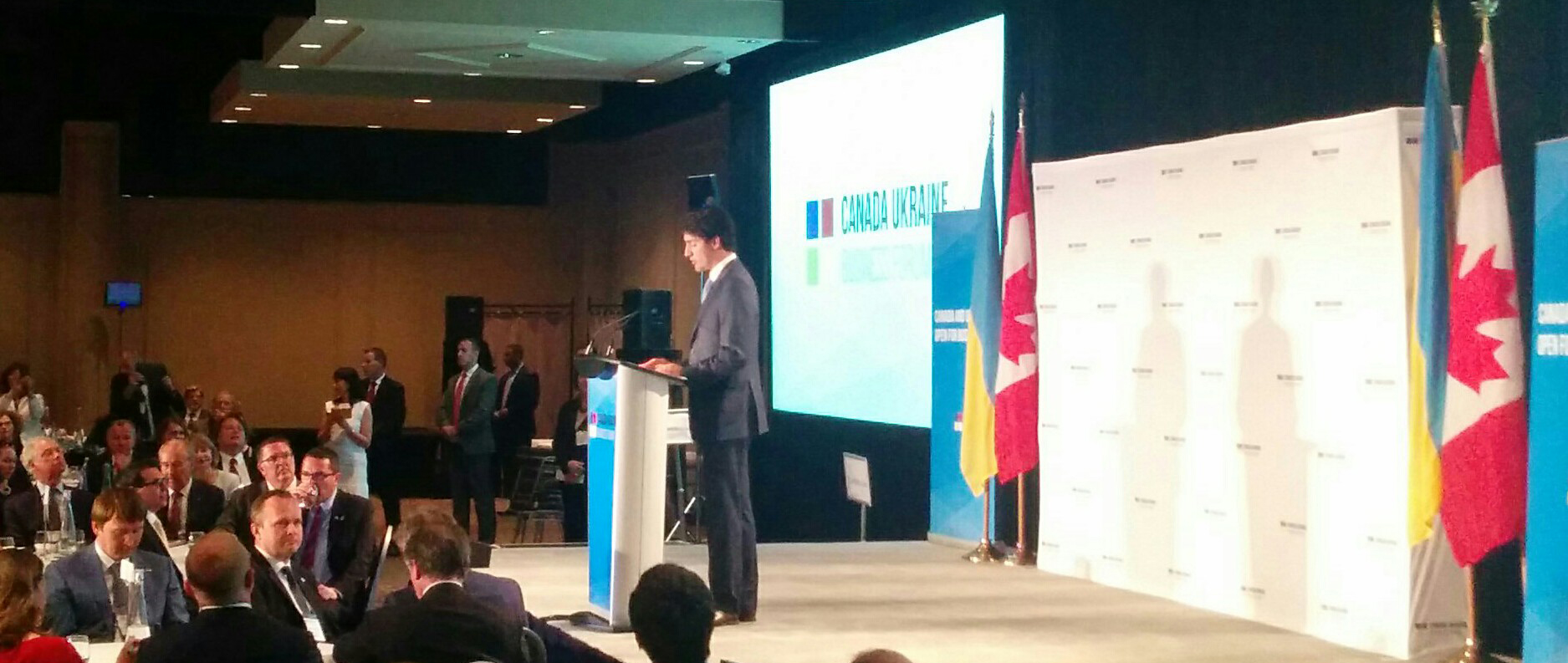 Justin Trudeau at the Canada-Ukraine Business Forum