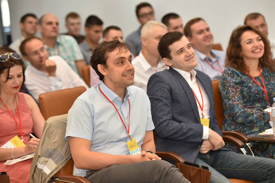Yaroslav Nedashkovsky and Volodymyr Vargola on Interpipe Industry 4.0 conference